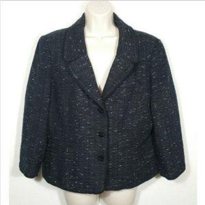 ANN TAYLOR Suit Blazer Jacket Tweed Lined 2952E1